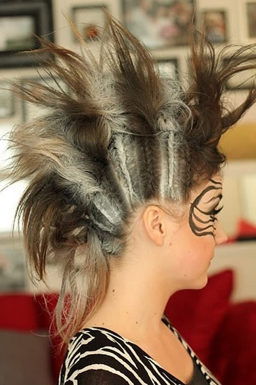 amazing spiked mohawk with braid hairstyles