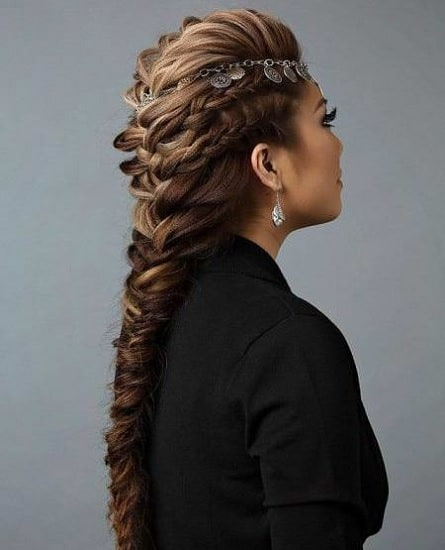 french braid mohawk hair with weave for girls