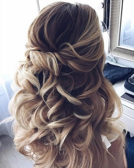 half up half down dama hairstyles for girls
