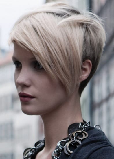 pixie with bangs women's long on top short in back hairstyles