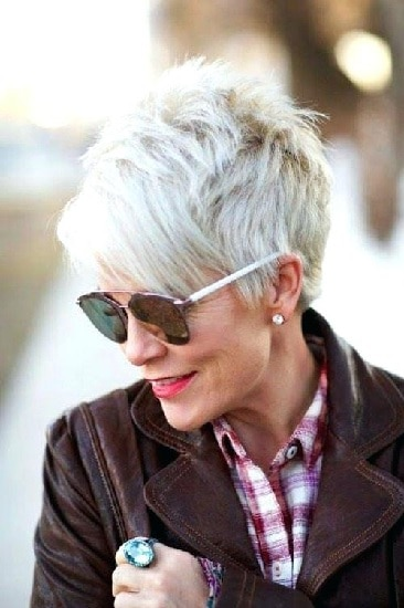 pixie cut for women beyond 70 year