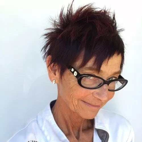 spiked hairstyles for older ladies