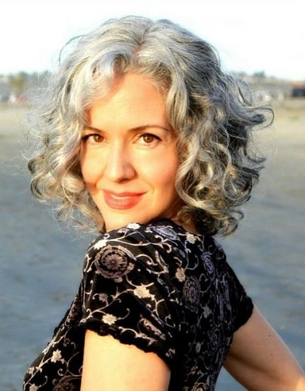 classy curly bob hairstyles for women in their 60s