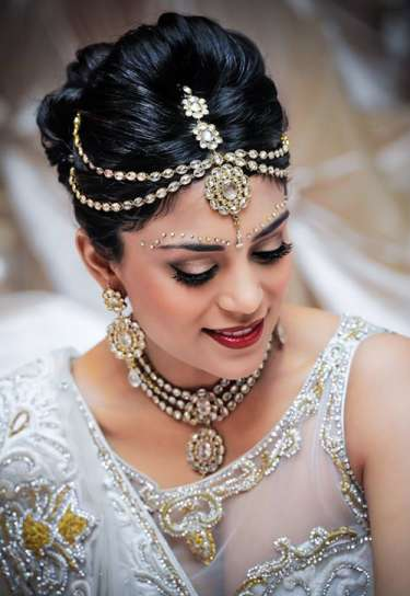braided puffed bun for lehenga