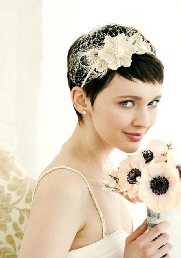 pixie cut for indian bride