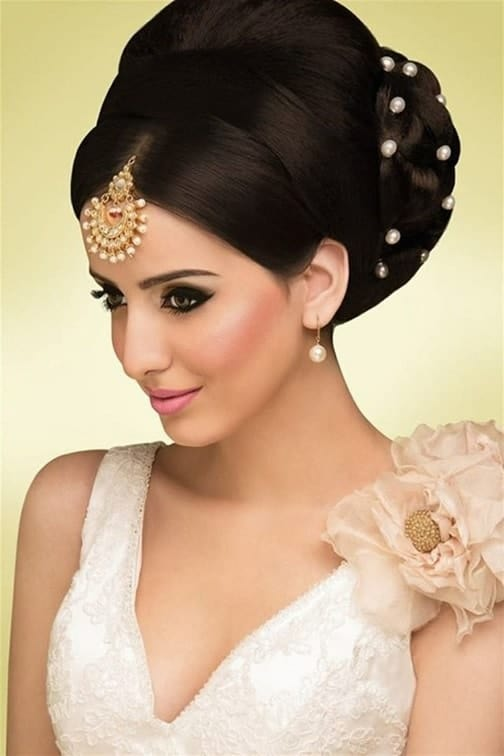 Voluminous Updo for Indian Bride