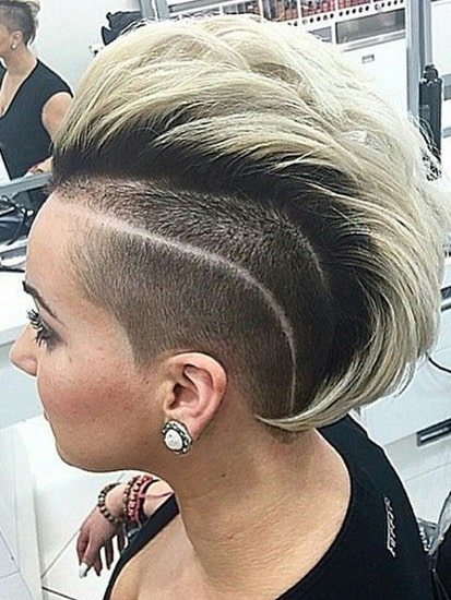 blonde undercut mohawk hairstyles with weave