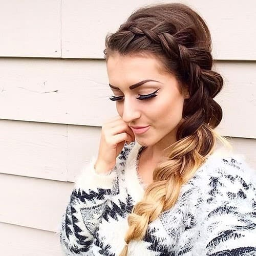 hairstyle with side dutch braid for women