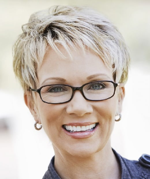 pixie cut for women with glass