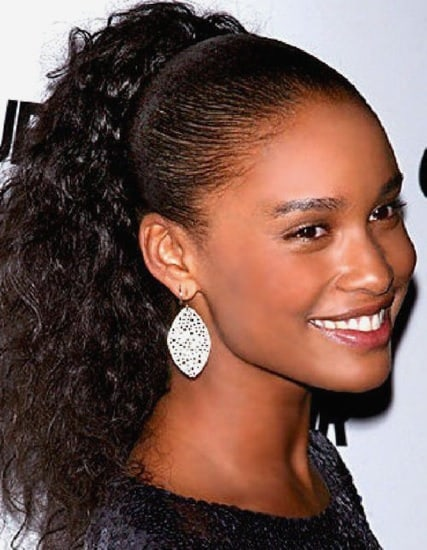 curly pony hair dos for black women