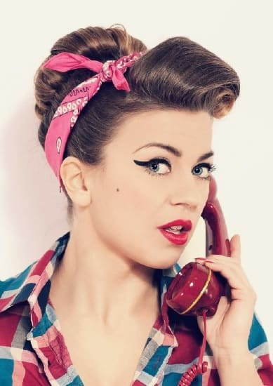 classy pompadour hairstyles with sock hop