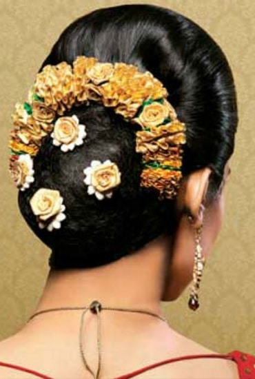 south indian wedding bun hairstyle