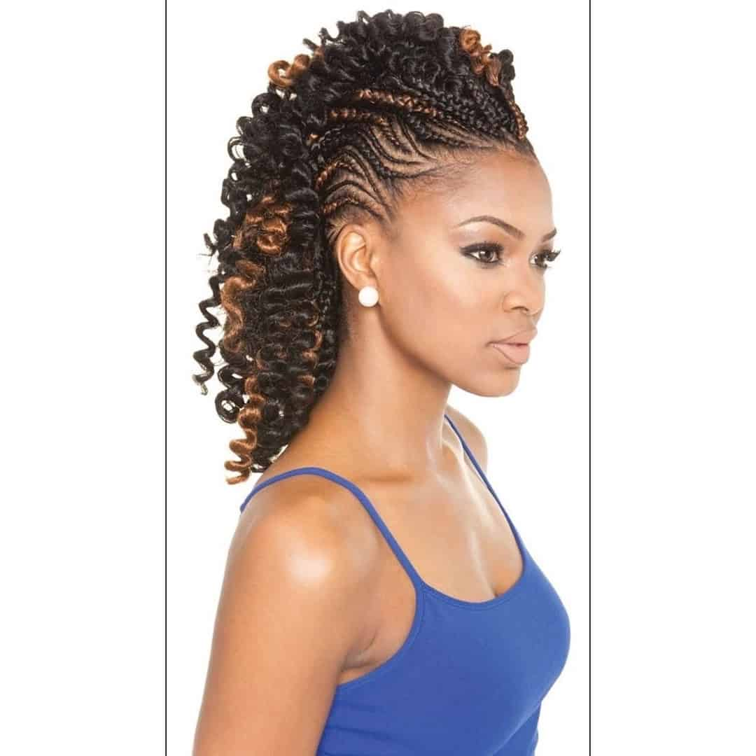 12 Fabulous Braided Mohawk Hairstyles with a Weave - SheIdeas