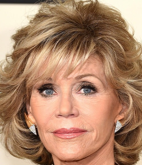 Jane Fonda's Choppy Hairstyle