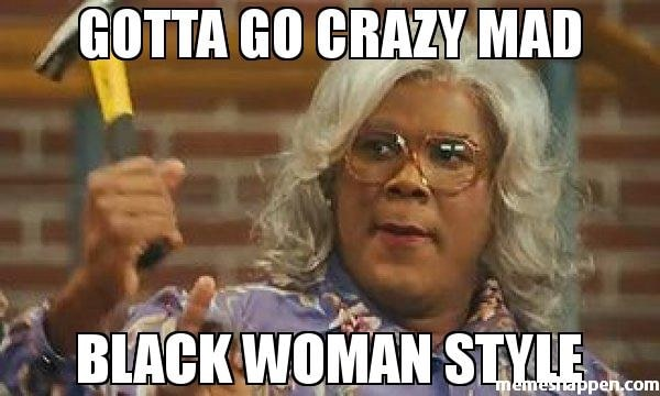 funny black woman meme