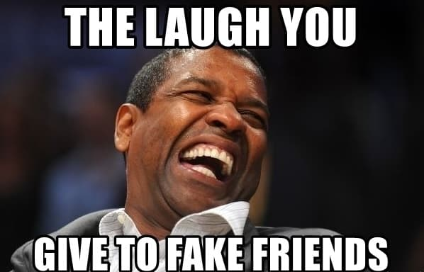 laughable memes regarding fake friends