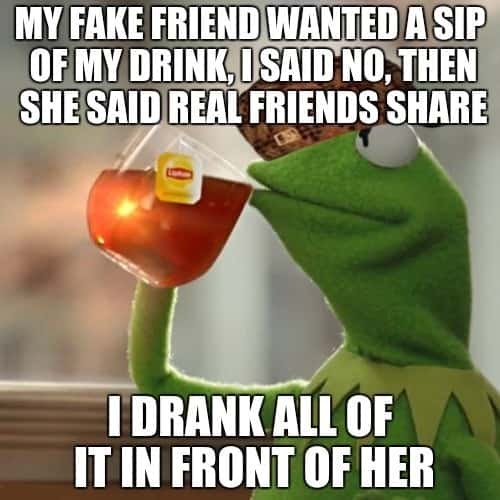 funny fake friends meme