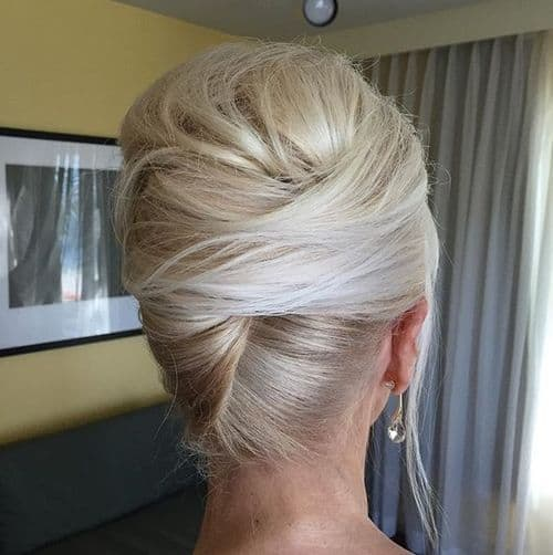 french twist updo hairstyles for mother of the bride over 60