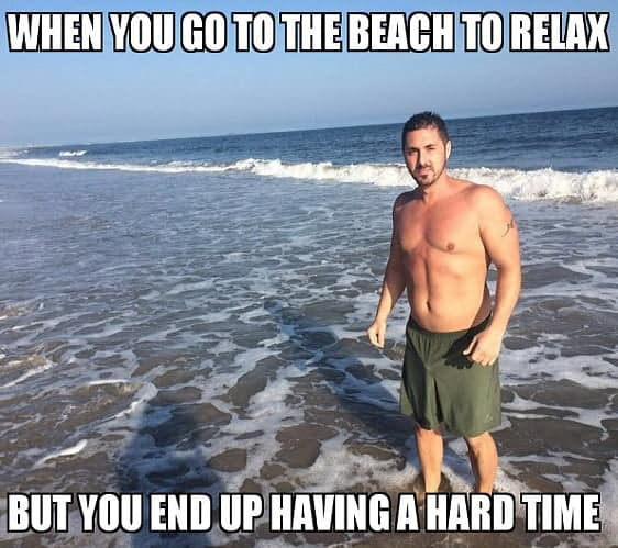 funny memes about beach