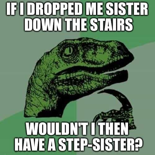 funny meme about sister