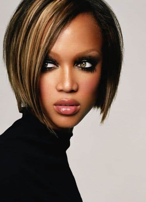 Highlights hair with heart shaped faces for black women