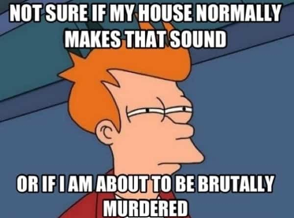 fearful memes about horror movie