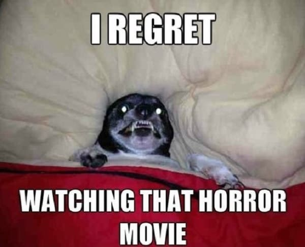 funny horror movie meme to laugh