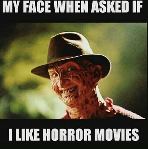 funny horror movie meme