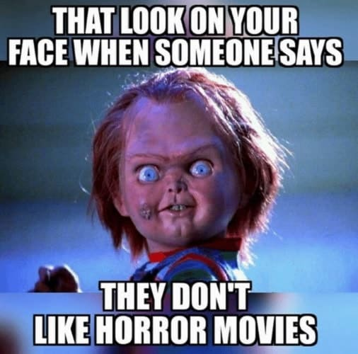 memes about horror movies