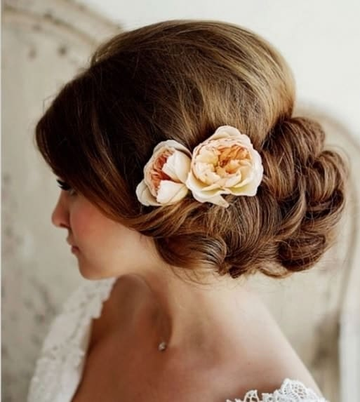 indian wedding hairstyle with low updo