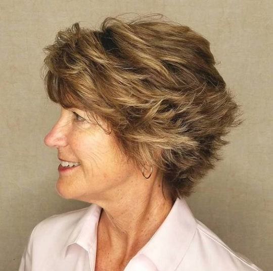 thick hair choppy hairstyles for over 60
