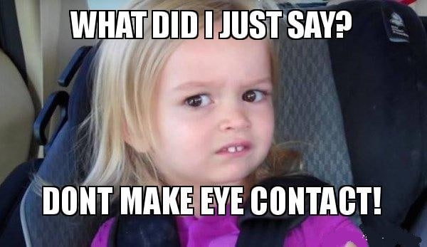 hysterical memes about giving side eye