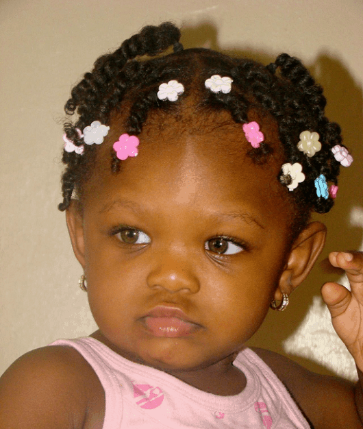 mini twists with curly hair for toddler