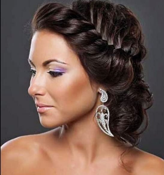 black braided updo hairstyles