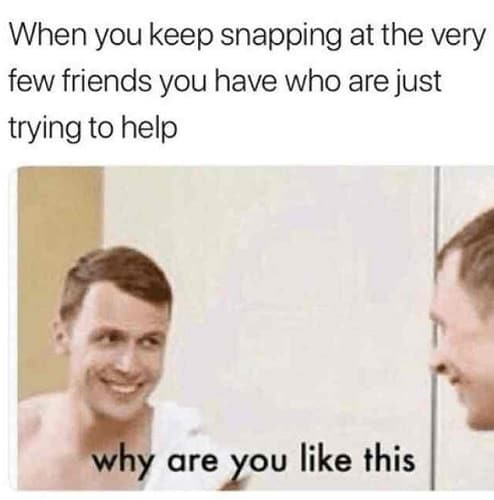 why are you like this meme for friends