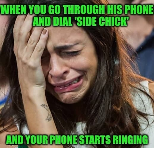 laughable women on phone memes