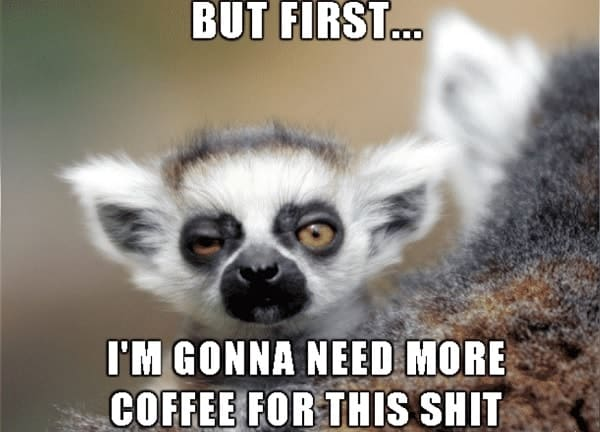 memes regarding I need more coffee