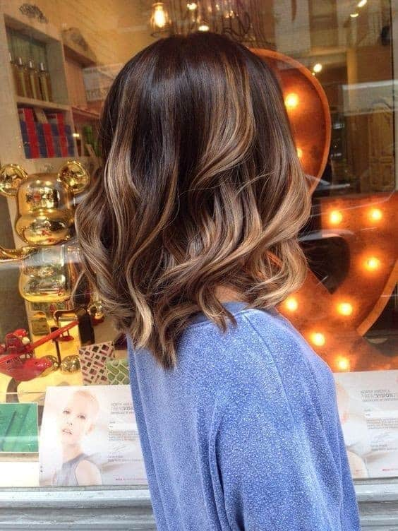 blonde highlights with waves