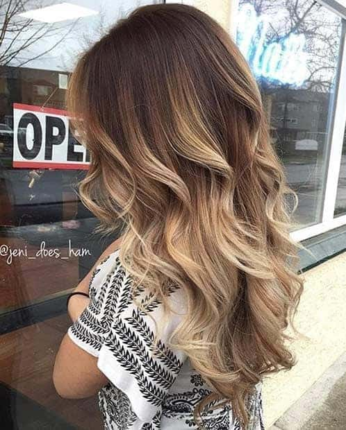 Ombre Blonde Highlights with Big Bold Curls