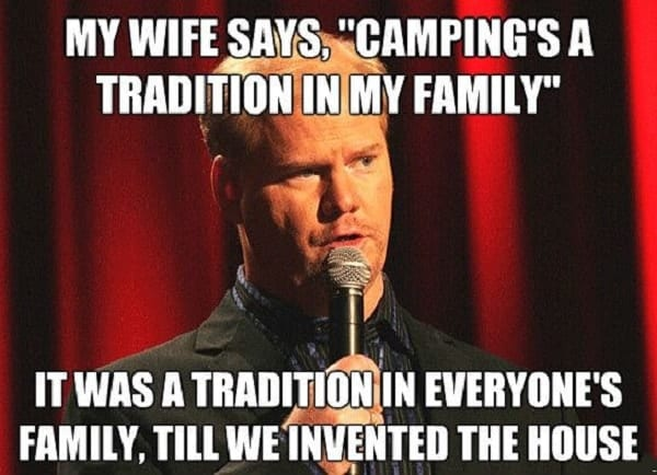 funny memes about camping