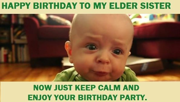 funny birthday memes for sister to laugh