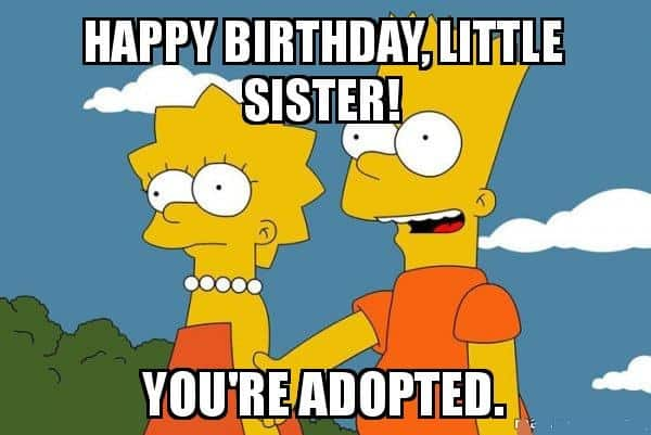 funny happy birthday sister meme