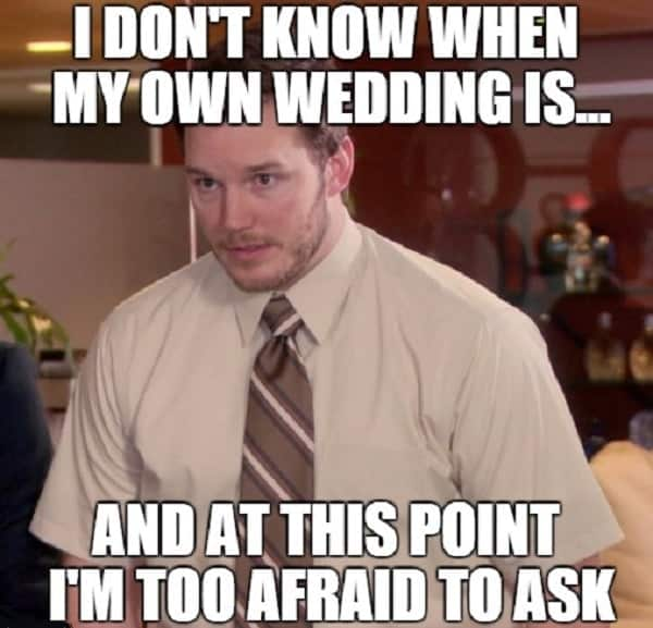 30 Funny Wedding Memes For The Bride And Groom