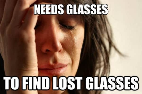 memes regarding girls with glasses