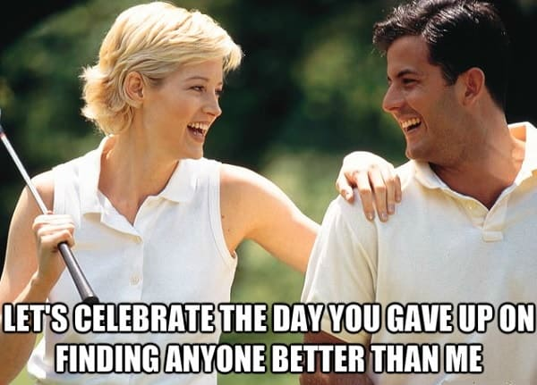 funny happy anniversary meme for couple