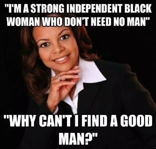independent black woman meme