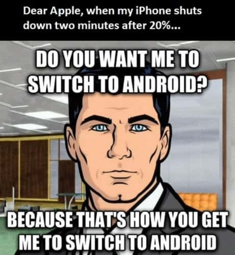 funny iPhone vs Android memes