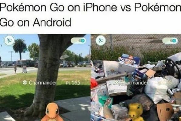 iPhone vs Android meme