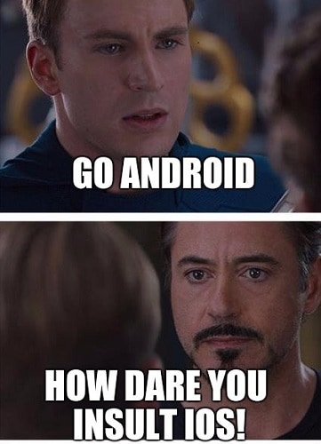 iPhone vs android memes