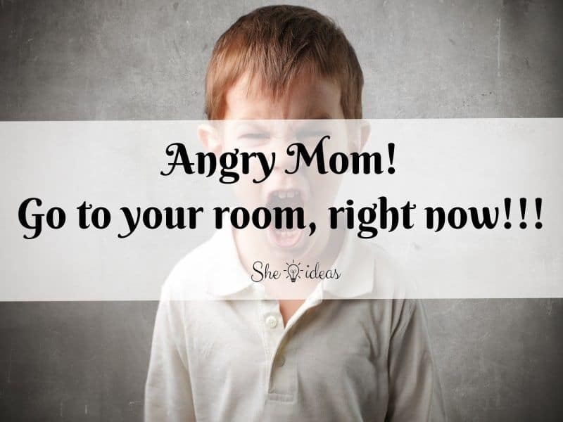 Meme about angry mom
